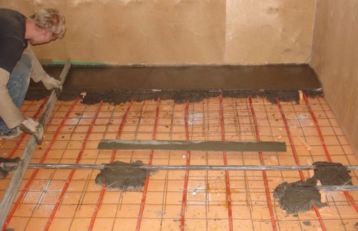 Заливка полов в квартире под плитку своими руками