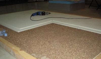 Сухая стяжка деревянного основания