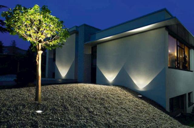 Светильники фасадные