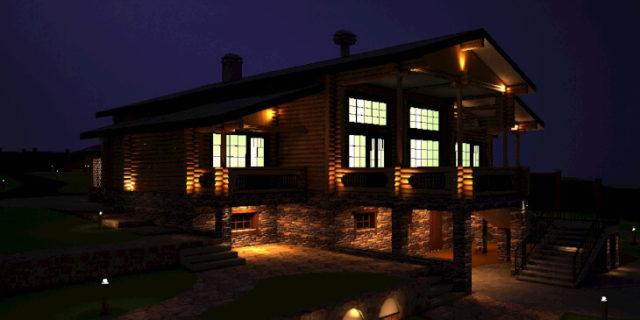 Для художественной подсветки фасадов используются две группы светильников: источники направленного и распределенного света