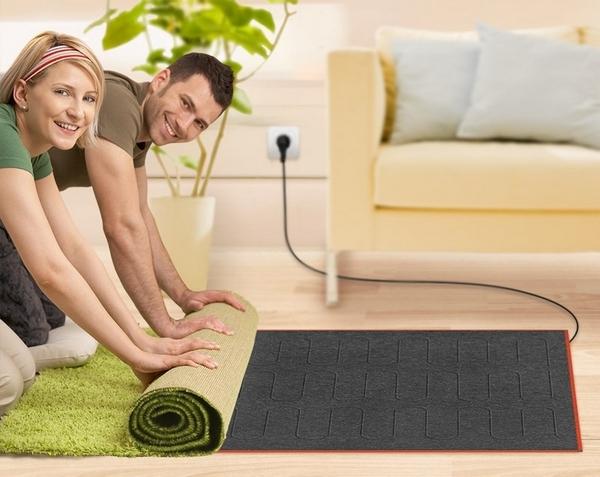 Удобство использования теплого пола под ковром