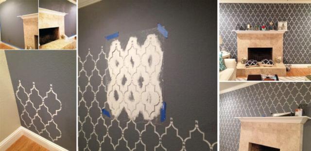 Покраска стен по трафаретам самостоятельно