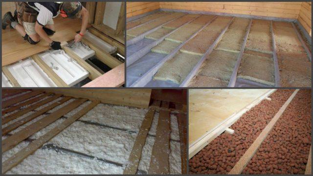 Различные типы и виды утеплителей для деревянного пола (насыпные, напыляемые, рулонные, блочные)