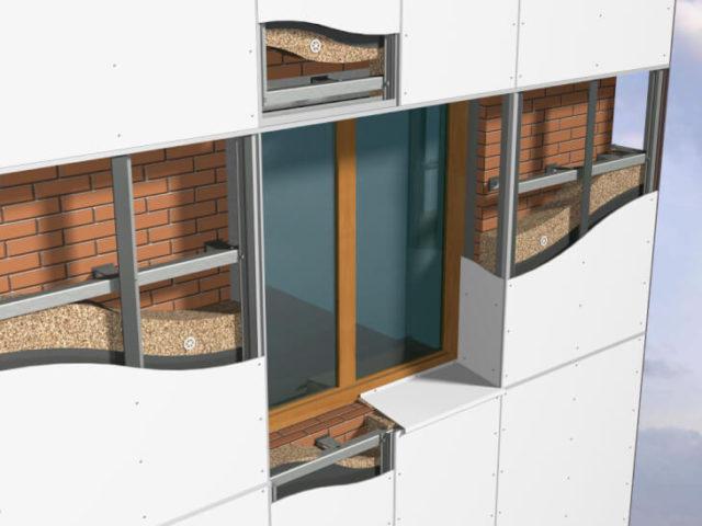 Навесные алюминиевые фасадные системы