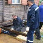 Ремонт деревянного фундамента