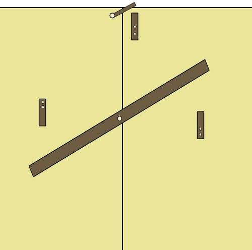 Запор «Вертушка»на ворота