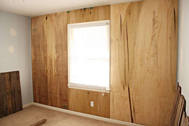 Отделка стен фанерой под покраску или обои