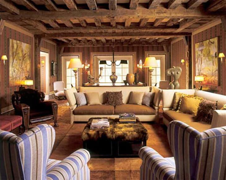 Деревянные балки используются в основном в частных домах