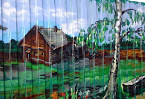 Красивые рисунки на заборе своими руками
