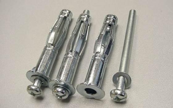 Металлический дюбель для гипсокартона - применяется для установки конструкций и оборудования для крепления предметов к гипсовой плите