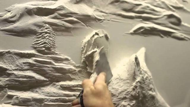 Объемная картина с помощью шпаклевки