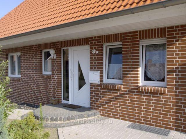 Фасад облицованный клинкерной плиткой