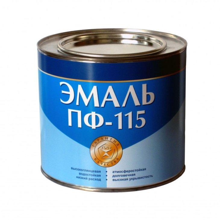 Расход краски ПФ-115