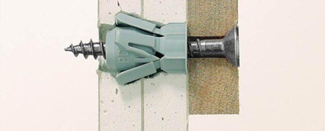 Дюбель для гипсокартона Fischer — крепежный элемент со спиральной наружной резьбой, надежно крепящейся в гипсокартоне