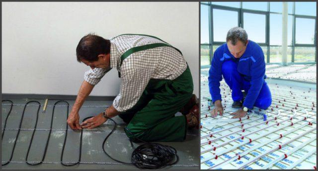 Доверяя монтаж профессионалам вы получаете гарантию на качественную эксплуатацию ваших систем напольного обогрева