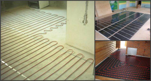 Электрический кабельный, инфракрасный и водяной теплый пол