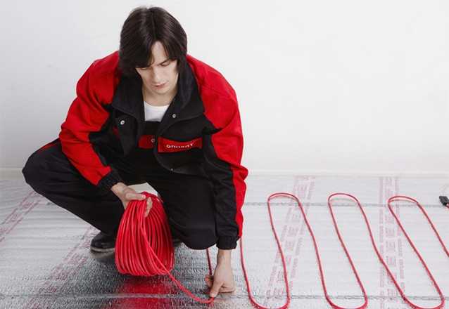 Монтажа кабельного пола