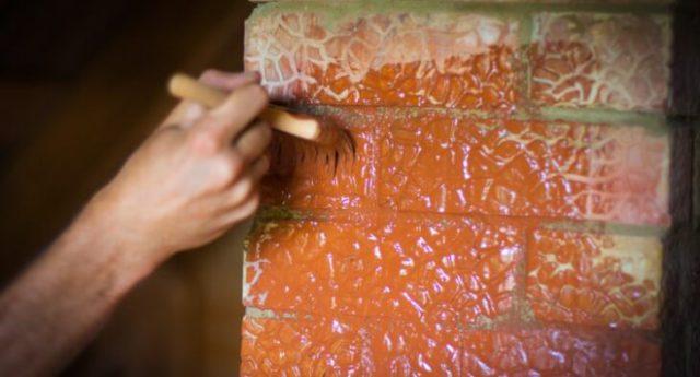 Нанесение термостойкого лака с помощью кисти