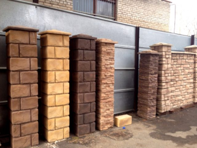 Декоративные бетонные столбы