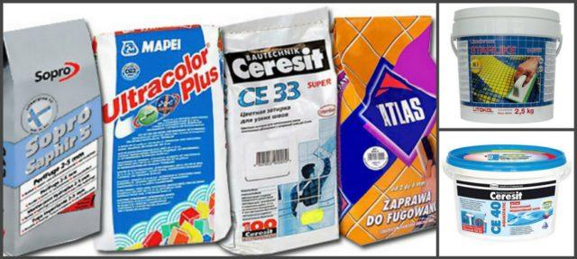 Затирочные смеси для плитки: сухие и готовые