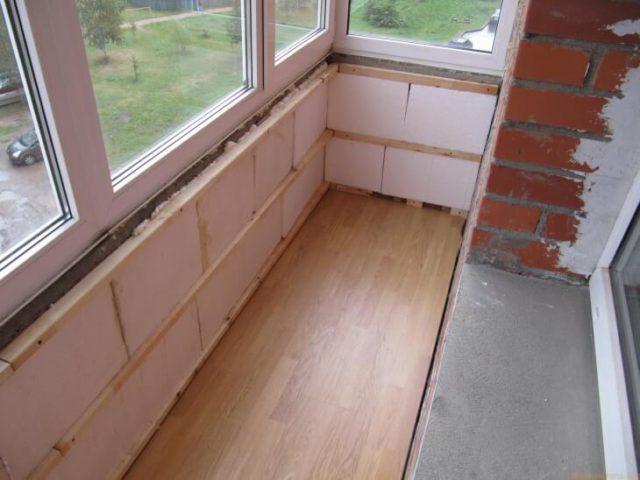 Утепление стен балкона хрущевки пенопластом