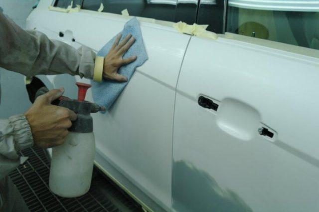 Чем обезжирить поверхность перед покраской?