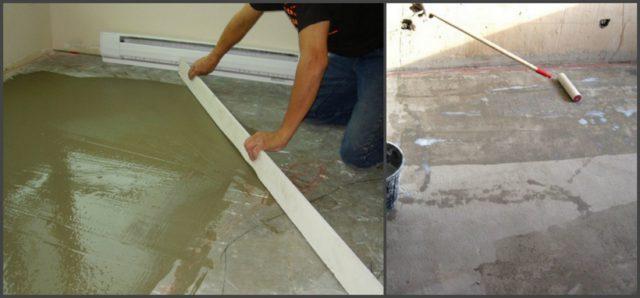 Плитка предъявляет повышенные требования к ровности основания. Грунтование поверхности позволит улучшить адгезию с клеем и уменьшить его впитываемость