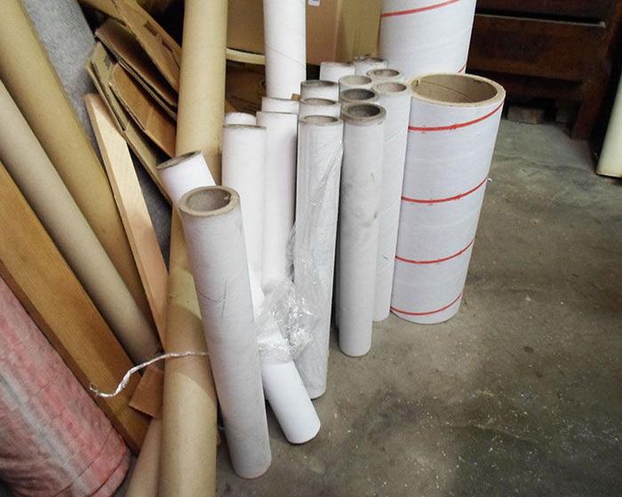 Подготовка картонных труб