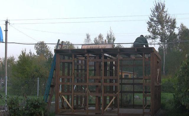 Строительство крыши каркасной бани
