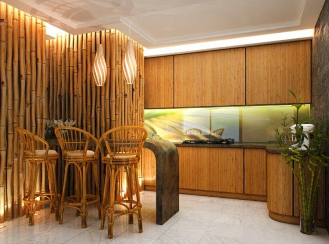 Бамбуковые панели для кухни