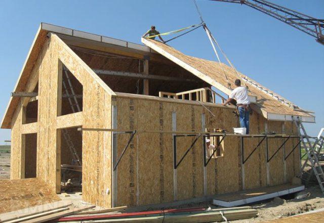 Как построить дом из осб?
