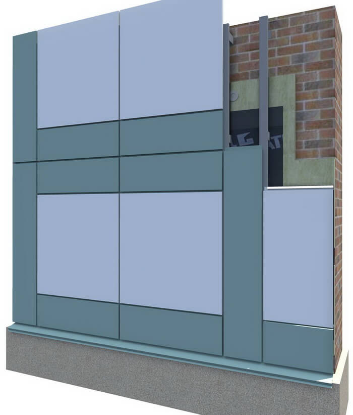 Кассеты для фасада комбинированные