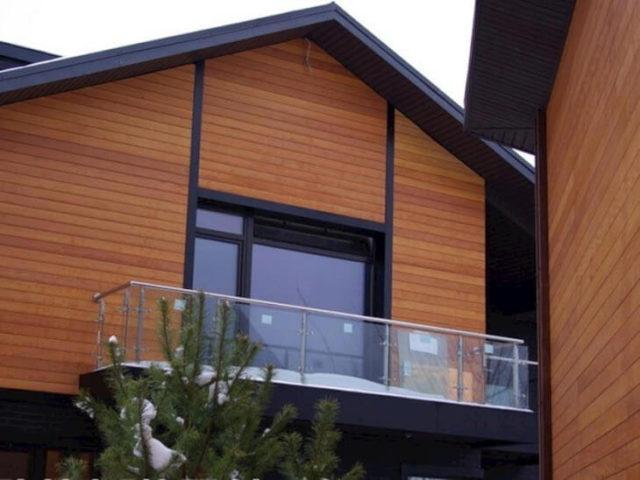 Для отделки современных частных домов используют планкен