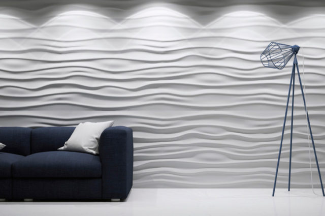 Отделка стен гипсовыми панелям 3d