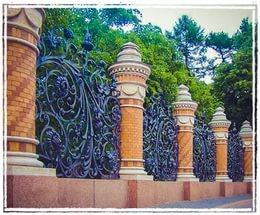 Декоративные кованые заборы