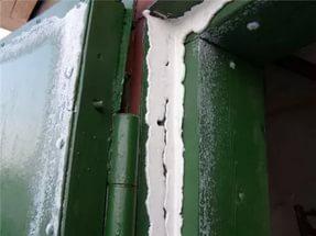 Утепление порога и контура гаражных ворот