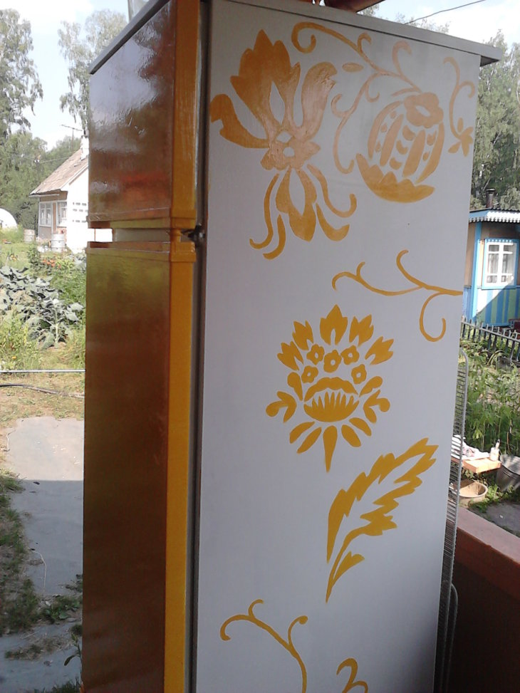 Красим холодильник своими руками
