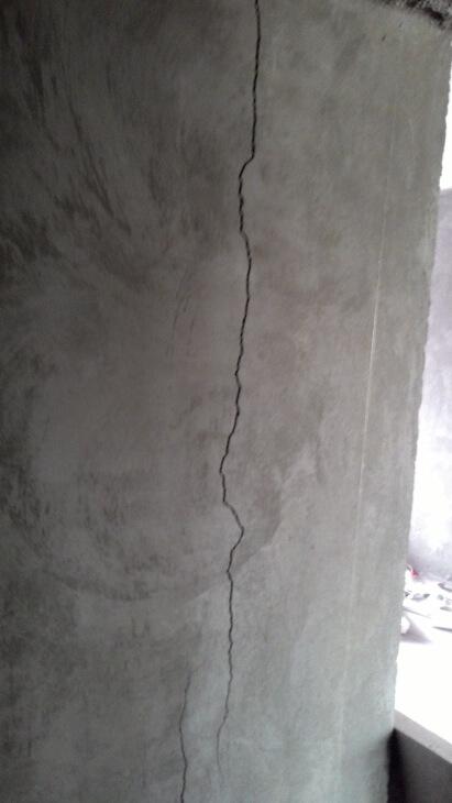 Повторно образовавшаяся трещина после ремонта