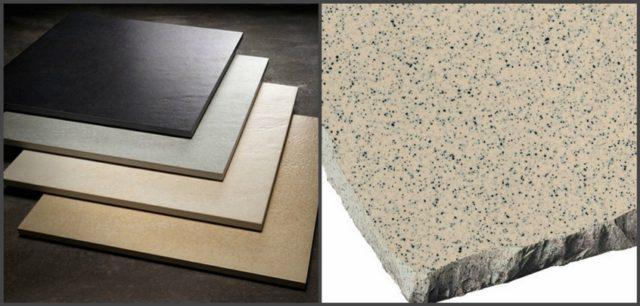 Плитки керамогранита. Обратите внимание на однородную структуру облицовки