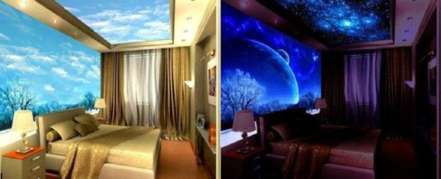Люминесцентная краска в спальне