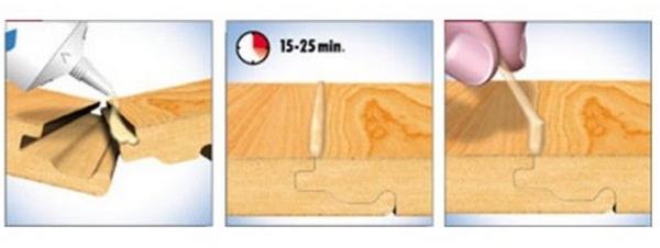 1 - Нанести средство; 2 - Выждать 15-25 мин; 3 - Убрать излишки