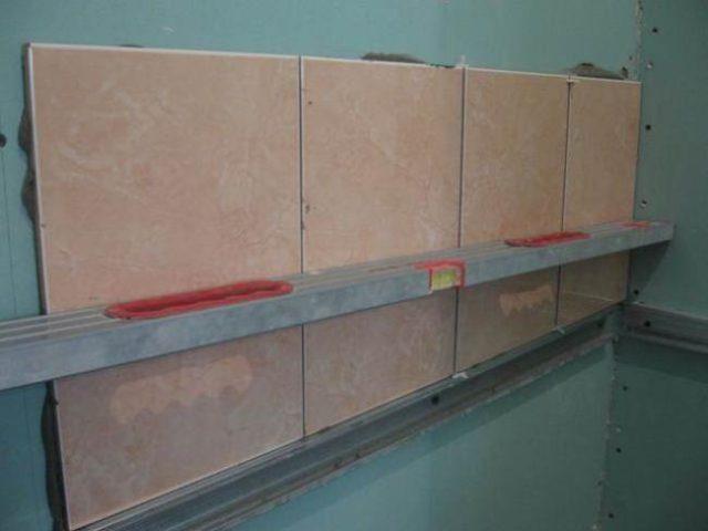 Монтаж плитки на гипсокартон