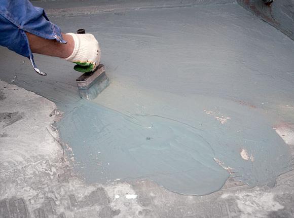 Процесс нанесения обмазочной гидроизоляции