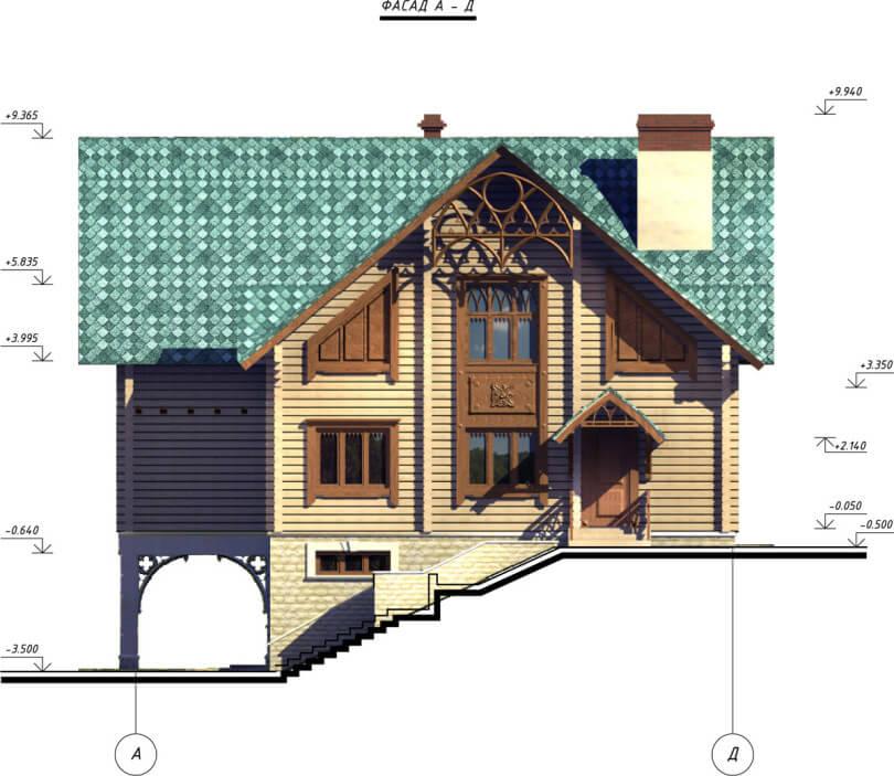 Вид дома по проекту