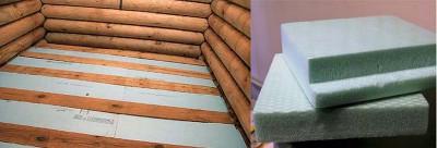 Пенополистирол для утепления деревянного пола