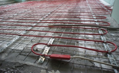 Теплый пол готовый к заливке стяжки