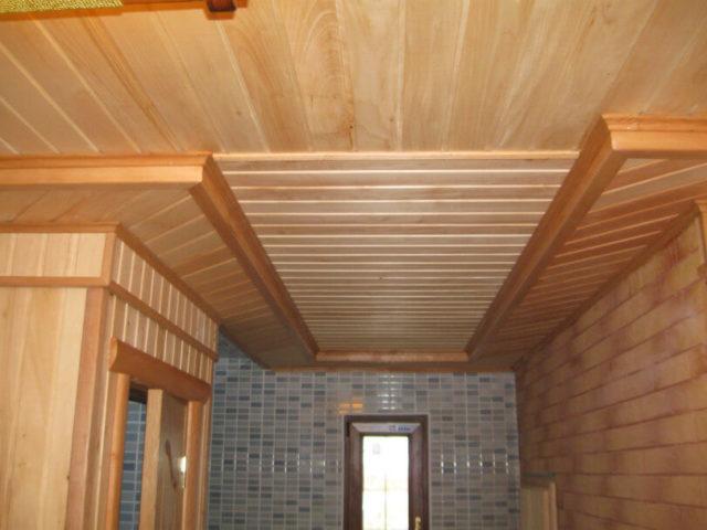 Отделке деревянной вагонкой