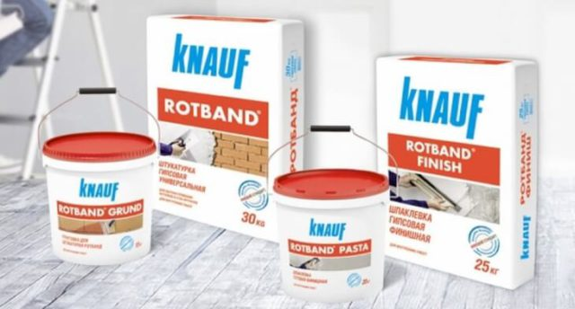Строительная штукатурка Knauf Rotband