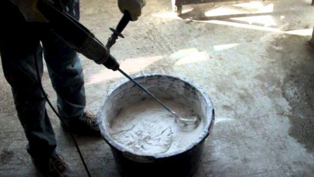Приготовление штукатурной смеси Rotband