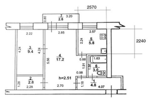 Планировка квартиры в хрущевке
